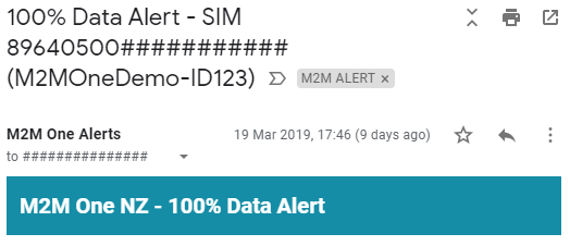 Data Usage Alert Email